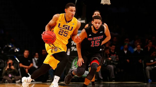All-rounder: Ben Simmons takes the ball up the court against North Carolina State earlier in the season.