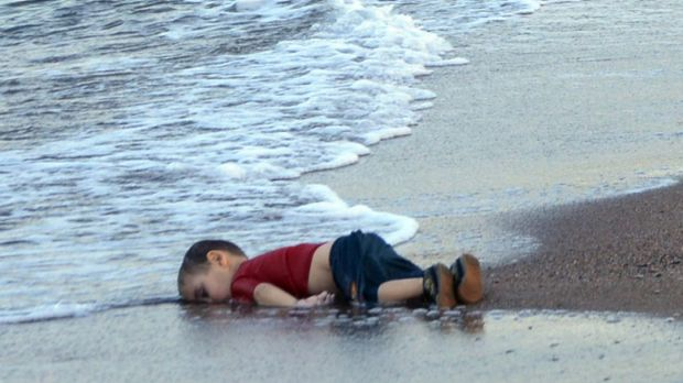 The body of 3-year-old Alan Kurdi (originally reported as Aylan Kurdi) washed onto the beach near the resort of Bodrum, ...