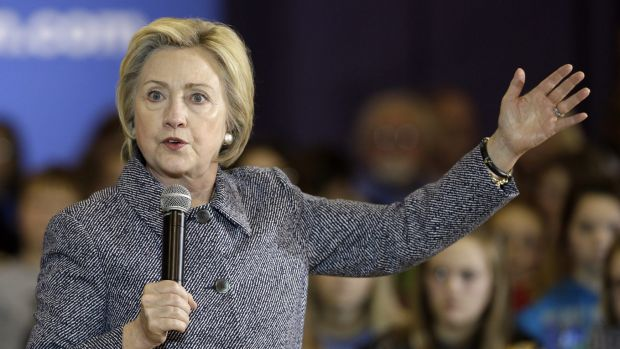 Hillary Clinton, the Democratic front-runner, in Iowa in late December.