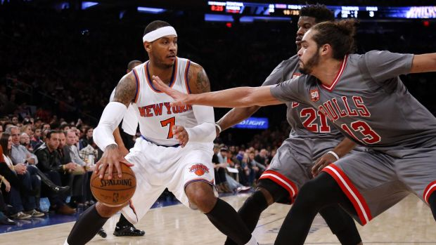 Off the table: New York Knicks star Carmelo Anthony.