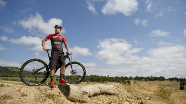 Director of Capital Bicycle Hire Peter Dowse at Mount Stromlo.