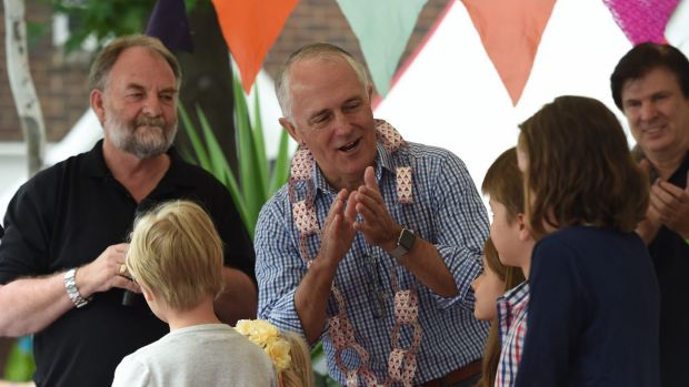 Malcolm Turnbull at the Wayside Chapel.
