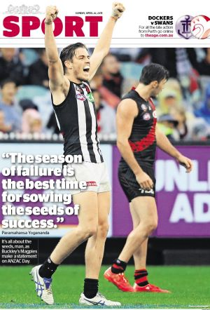 Pie in the sky: Collingwood prevailed on Anzac Day.