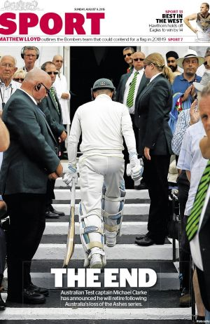 Michael Clarke's career ended inauspiciously in August