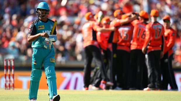 It took Perth Scorchers quick Jason Behrendorff just two deliveries to get his first wicket, that of Lendl Simmons, ...