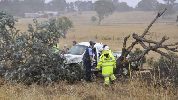 Two children were critically injured and were airlifted to hospital after a single-car crash at Yarra, near Goulburn, on ...