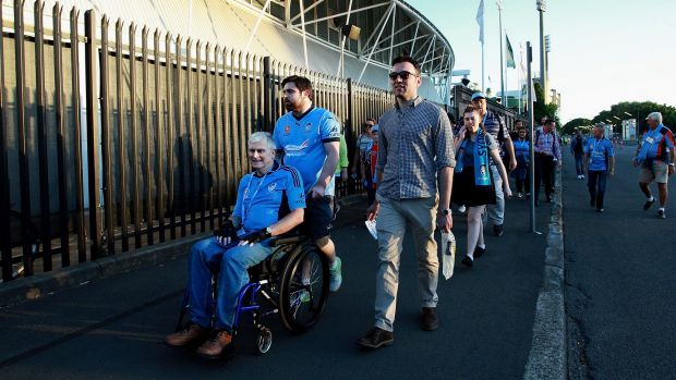 Sydney football fans arrive at Allianz Stadium, where security measures are said to have been ramped up in the wake of ...