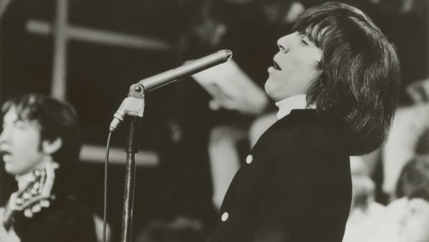 Easybeats lead singer Stevie Wright performing in the 1960s.