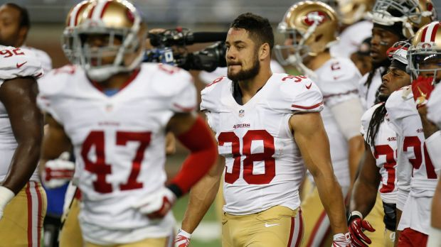 Out of his depth: Jarryd Hayne.