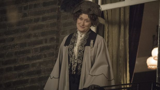 Meryl Streep as Mrs Pankhurst in the film <i>Suffragette</i>.