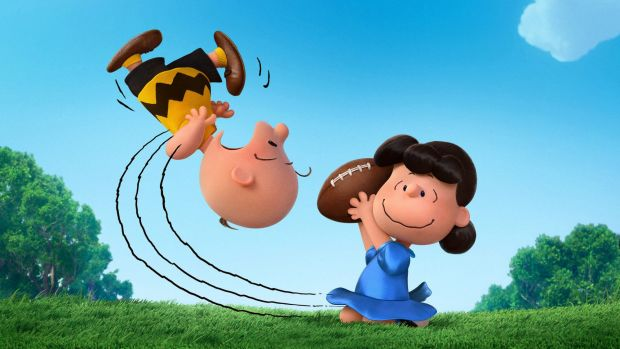 Charlie Brown and Lucy in <i>Snoopy and Charlie Brown: The Peanuts Movie</i>.