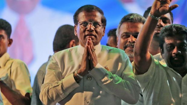 Sri Lankan President Maithripala Sirisena in January.