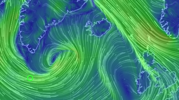 A massive storm off Greenland is likely to hammer Iceland and parts of Britain.