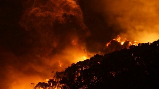 Fires swept through Wye River on Christmas Day.