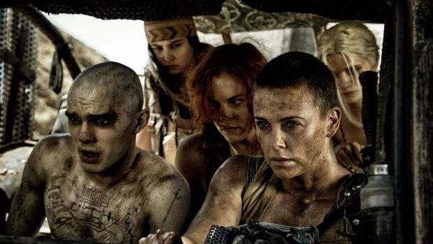 Charlize Theron (front right), as Imperator Furiosa in <i>Mad Max: Fury Road</i> and sporting the haircut of 2016.