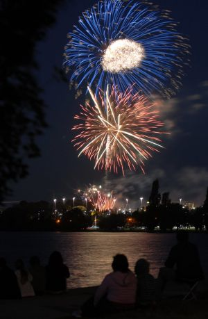 New Year's Eve fireworks in Canberra.