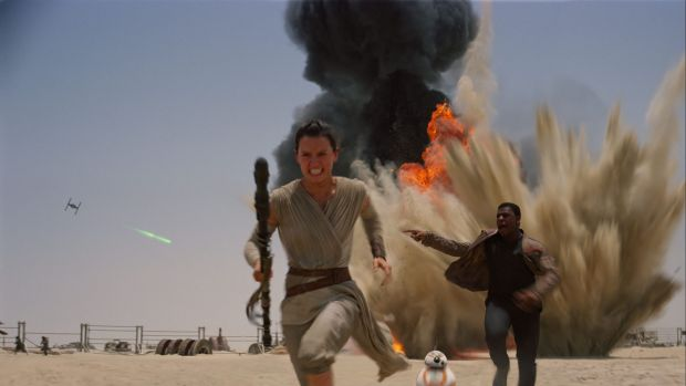 Daisy Ridley  and John Boyega in Star Wars: The Force Awakens. Website blocking sought.