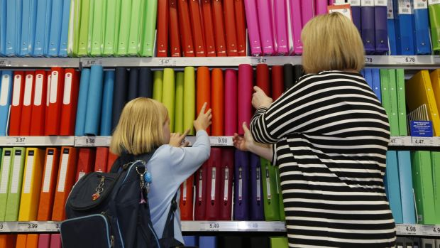 Retailers like Officeworks want children to express themselves through their school equipment.