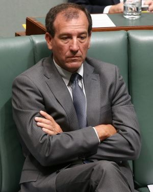 Outgoing MP Mal Brough.