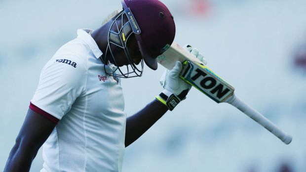 Signs of life: Jason Holder and the West Indies had their best day of the series at the MCG.