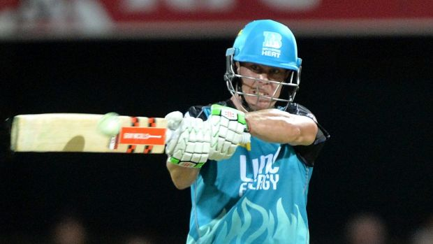 Great knock in a losing effort: Brisbane's Chris Lynn scored a superb century.