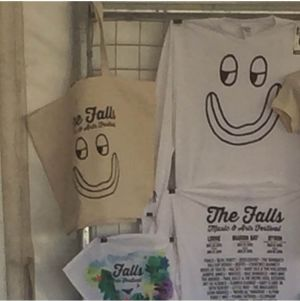 Melbourne designer Elena King has accused the Falls Music and Arts Festival of ripping off her design,The Moody Face shirt.
