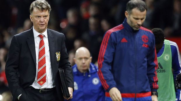 Tough gig: Manchester United's manager Louis van Gaal, left, and his assistant Ryan Giggs.