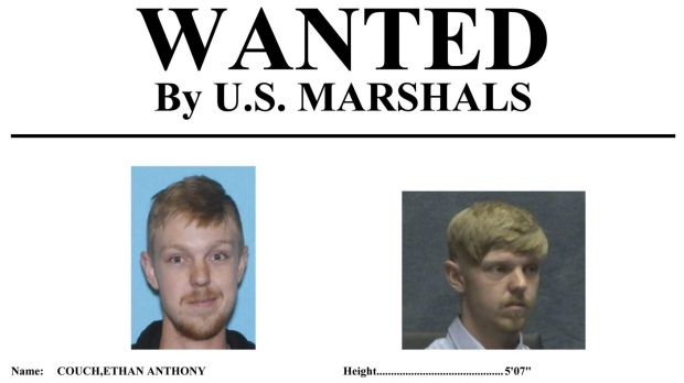 The wanted poster issued by the US Marshals Service.
