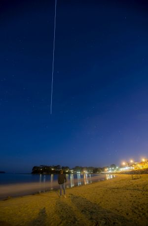 The International Space Station flies over the east coast of Australia.