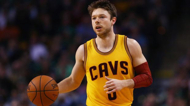 Paying his dues: Matthew Dellavedova takes the ball up the court for the Cleveland Cavaliers.