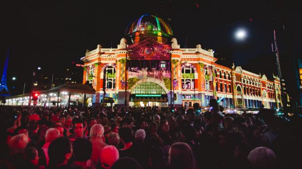 Events such as White Nights bring thousands of night-time visitors into Melbourne.