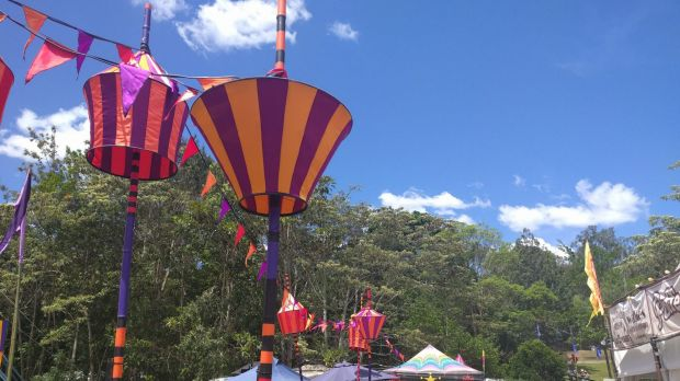 Blue skies for day four at Woodford Folk Festival 2015/16.