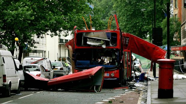 The bus destroyed by a bomb in London on July 7, 2005.