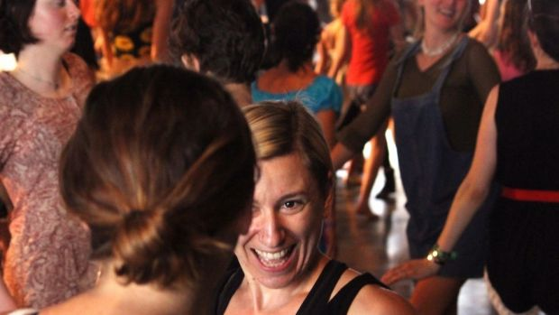 You can't dance the flapper without a smile at Woodford Folk Festival 2015/16.