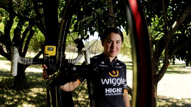 Strong finish: Canberra cyclist Chloe Hosking finished sixth in the Aussie road race nationals.