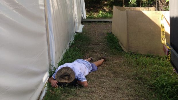 Catching some Zs at Woodford Folk Festival.