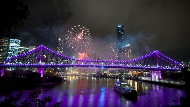 There will be fireworks displays at 8.30pm and midnight as Brisbane sees in 2016.