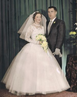 Valda and Ron Jeffery on their wedding day in 1960.
