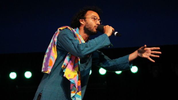 Rivermouth unleashed a poignant rap at the Woodford Folk Festival.