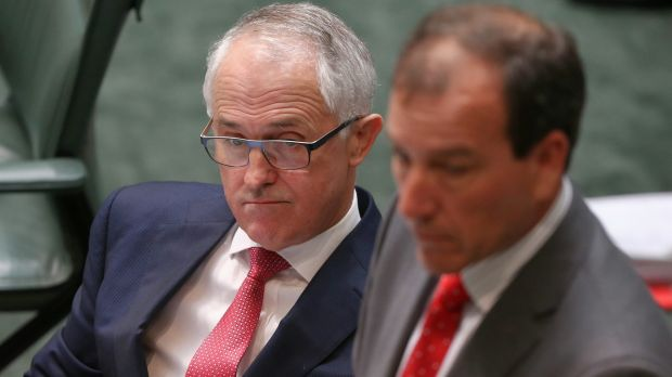 Prime Minister Malcolm Turnbull and former frontbencher Mal Brough.
