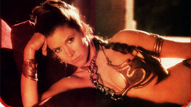 Carrie Fisher in Return of the Jedi (1983).