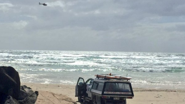 An air and sea search is underway on the Gold Coast, where a surfer went missing on Thursday morning.