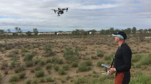 Drones have been used to access the hazardous site.