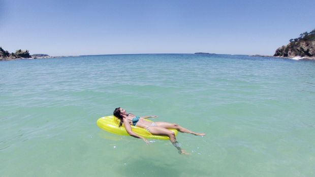 Lisa Kaye of Ainslie soaks up the weather on the South Coast of NSW.