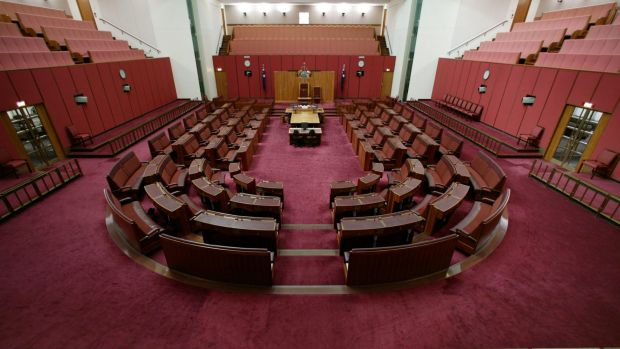 The Senate chamber in Canberra's Parliament House. Senate voting has changed this election.