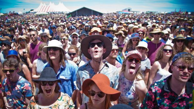 A crowd of 18,000 turned out for the relocated Falls Festival at Mount Duneed.
