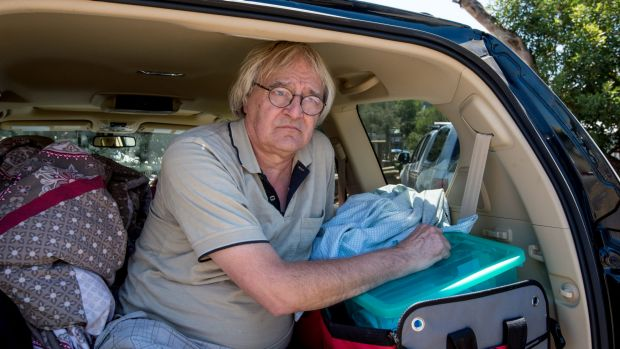 Kennett River resident Christian Cleveland has been sleeping in his car since the Christmas Day fire.