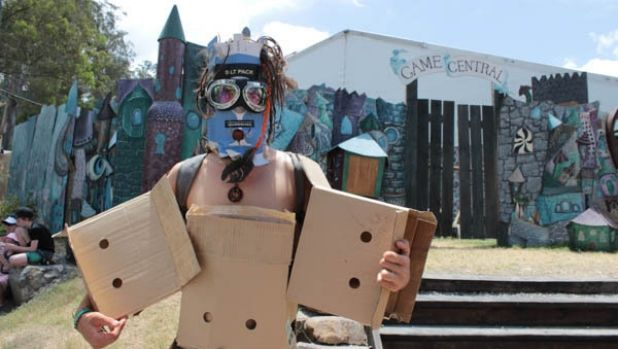 Andrew of the Ono-Bot faction at Woodford Folk Festival 2015/16.
