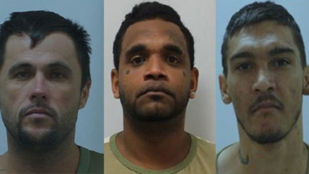 The three Townsville prison farm escapees.