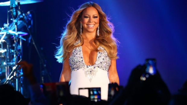 Mariah Carey performs at Crown Casino's New Year's Eve Party at Crown Palladium.